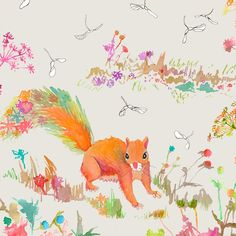 Woodland Watercolor - Squirrel