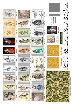 My Free Miniature Book Printie of Court Masque Designs of Inigo Jones.