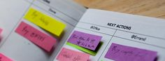 Sticky-Note GTD System #gettingthingsdone #filofax #planner