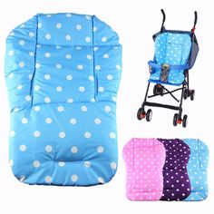 Hot Colorful Baby Pram Liner,Baby Car Stroller Seat Cushion For Children,Thick Cotton Baby Pushchairs Pad,Buggy Carriage Mat Pram Liners, Baby Prams, Seat Cushions, Baby Car Seats, Baby Strollers, Ikea, Polka Dot, Vans