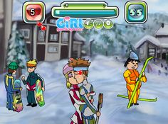 Skiing and Kissing Games - Kiss Games Online - Kissing Games, Games For Girls, Online Games, Skiing, Kids, Ski, Young Children, Boys, Children