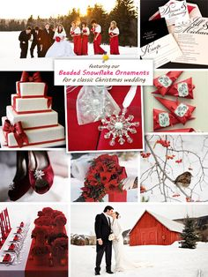 Red color palette #wedding