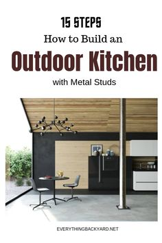 How to Build an Outdoor Kitchen with Metal Studs: 15 Steps Modular Outdoor Kitchens, Build Outdoor Kitchen, Outdoor Kitchen Design, Ponds Backyard, Backyard Ideas, Small Front Yards, Yard Maintenance, Built In Grill, Deck Decorating