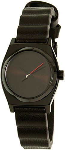 Nixon Women's Small Time Teller Leather SW Vader Black A509SW2244 Black Leather Quartz Watch * Check out this great product.