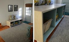 DIY a bench perfect for storage!