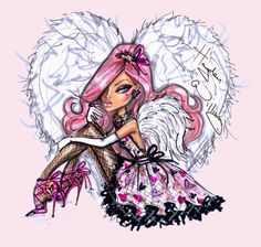 #Hayden Williams Fashion Illustrations #Couture Cupid by Hayden Williams