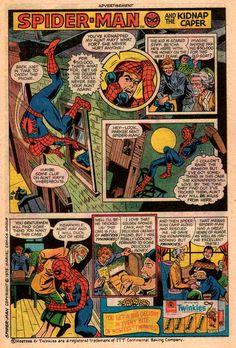 Spider-man - Hostess 1970's Comic Strip Tribute Superheroes Selling Twinkies