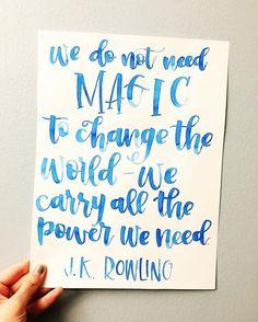 Love that JK Rowling 💕. . . . . . @samzawrites @theinkyhand #badasswomenchallenge #jkrowling #quotes #qotd #empoweringwomen #empoweringquotes #feminism #feminist #motivationalquotes #inspirationalquotes  #calligraphy #moderncalligraphy #creativelettering #handlettering #brushlettering #brushcalligraphy #watercolor #lettering #positivevibes #positivity