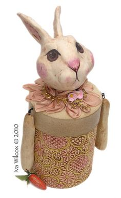 Rabbit Keepsake Box by Iva's Creations, via Flickr