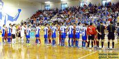 Saludo equipos. Montesinos Jumilla - ElPozoMurcia Fotos: Marian Montero @Moli_Montero