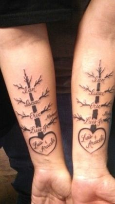 Tattoos For Childrens Names, Tattoos With Kids Names, Family Tattoos, Mom Tattoos, Couple Tattoos, Body Art Tattoos, Kid Names, Kid Tattoos For Moms, Tatoos