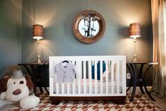 Sophisticated Menswear Nursery for the little gentleman in your life! Red Tricycle has outdone themselves with this charming nursery! Check it out on Designdazzle.com