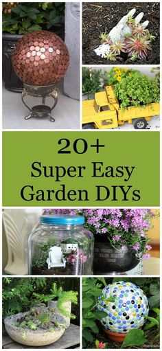 Over 20 DIY gardening projects that are super easy and fun to make.