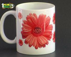 Mother's Day Gerbera Daisies Coffee Mug- Light Orange Gerbera Daisy Mothers Day Gift- 11 oz  Mug Mothers Day Gift with Gerbera Daisy