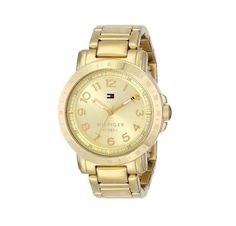 Tommy Hilfiger Women's 1781395 Gold-Plated Watch Tommy Hilfiger Watches, Tommy Hilfiger Women, Stainless Steel Bracelet, Stainless Steel Case, Gold Watches Women, Heart Function, Online Watch Store, Personalized Necklace, American Jewelry