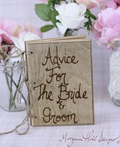 Rustic Guest Book Barn Country or any Wedding we did for ours (Brenda/John) and made each table a different Theme, Advise, Travel locations, Day trips, Food, Beverages, For Fun and more!