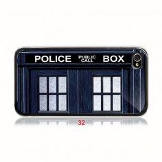 tardis doctor who geek retro style apple 32  iPhone 4/ 4s/ 5/ 5c/ 5s case