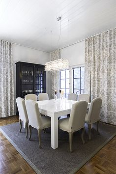 Detached house, interior design, dining room. Omakotitalo, sisustussuunnittelu, ruokailutila. Egnahemshus, inredningsdesign, matplats.