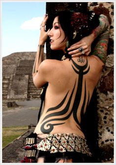 tribal tattoo for sexy women - 70+ Awesome Tribal Tattoo Designs  <3 !