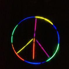 Glow stick sign