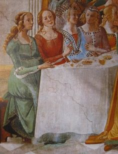 Detail - Herod's Banquet, Domenico Ghirlandaio, Start Date: 1486, Completion Date:1490, Santa Maria Novella, Florence, Italy