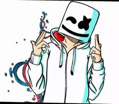 it is marshmello Dope Wallpapers, Gaming Wallpapers, Wallpaper Backgrounds, Cartoon Kunst, Cartoon Art, Musik Wallpaper, Marshmello Wallpapers, Hypebeast Wallpaper, Cool Drawings