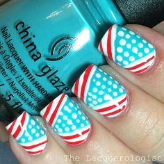 The Lacquerologist: Fourth of July Graphic Dots & Stripes + TUTORIAL