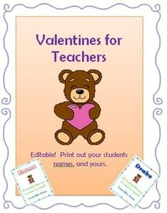 Valentines Bundle (Cards for teachers to give & kids to make)