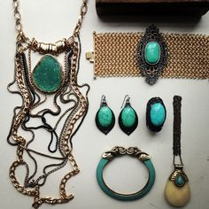 SAMANTHA WILLS - 50 Shades of Turquoise; Jewellery Statement Bohemian Luxe Jewelry Gold