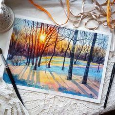 Watercolorist: @carinha_s  #waterblog #акварель #aquarelle #painting #drawing #art #artist #artwork #painting #illustration #watercolor #aquarela