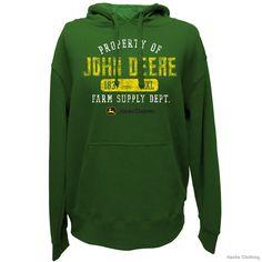 john deere clothing | John Deere 13020001 Property of JD Fleece Pullover Hoodie