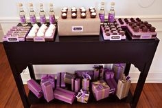 Purple & Brown baby shower?  Oh man!  I couldn't love anything more!!