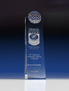 Masters - Sports Crystal Awards by Eclipse Awards. A tall crystal award topped with a crystal golf ball, the Masters makes a classic golf award. Golf Trophies, Crystal Awards, Classic Golf, Top 5, Fundraising Events, Golf Ball, Corporate Gifts, Masters, Communication