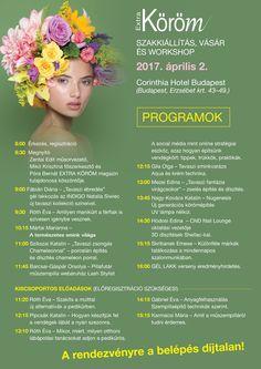 Extra Köröm Szakkiállítás,Vásár és Workshop 2017. április 2. Corinthia Hotel Budapest Budapest, Erzsébet krt. 43.49.