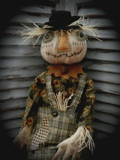 Your place to buy and sell all things handmade Scarecrow Doll, Halloween Doll, Vintage Halloween, Fall Halloween, Vintage Witch, Halloween Halloween, Halloween Makeup, Halloween Costumes, Primitive Scarecrows