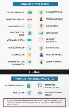 Ventajas de WordPress #infografia