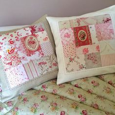 Beautiful cushions - would be simple to make, and so pretty!