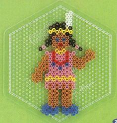 Indianerin hama beads - DOMINELLE DECOUPAGE