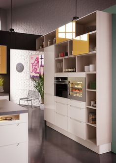A la Carte -keittiöt Grano ja Scuro. Uutuus kiskoilla kulkevat ovet.   #keittiö #kitchen