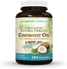 Organic Coconut Oil Capsules - 1000 mg Extra Virgin - 180 Softgels - Great Pills for Energy, Weight Management Hair, and Skin Coconut Oil For Teeth, Natural Coconut Oil, Coconut Oil Pulling, Extra Virgin Coconut Oil, Benefits Of Coconut Oil, Oil Benefits, Organic Coconut Oil, Coconut Oil Capsules, Coconut Oil