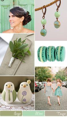 Sage, mint and taupe wedding colour scheme. Taupe Color Schemes, Coral Colour Palette, Taupe Colour, Coral Color, Color Palettes, Wedding Color Combinations, Wedding Color Schemes, Wedding Colors, Taupe Wedding