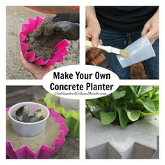 The HH and I were cleaning the garage out the other day and came across 2 bags of concrete {left over from when we built the chicken run last summer}. I thought it would be fun to use the extra concrete to make a couple ofuniqueconcrete planters for...
