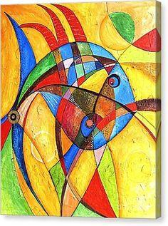 Fish 416-08-13 Marucii Canvas Print by Marek Lutek