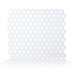 Smart Tiles White x Polished Composite Vinyl Tile at Lowe's. Smart Tiles is the original, made in North America, do-it-yourself peel and stick backsplash tiles. Especially designed for backsplash in kitchen and Self Adhesive Backsplash, Peel Stick Backsplash, Adhesive Tiles, Backsplash Tile, Removable Backsplash, Rustic Backsplash, Herringbone Backsplash, Backsplash Ideas, Tiling