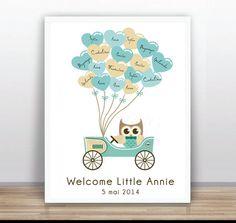 Baby Shower Árbol Libro de Visitas IMPRIMIBLE  Árbol por ByYolanda, €15.00
