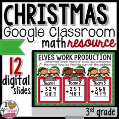 Wanting to move towards a paperless classroom?  Imagine using your time to plan effective lessons instead of grading countless student papers!  Using resources made for Google Classroom is the perfect solution!  With this file you will be able to share assignments with your class through your Google Classroom without ever having to hand out any paper!This Christmas themed resource includes: Adding and Subtracting Practice Word Problems 1 step Word Problems 2 Step Rounding 2 and 3 digit…