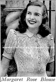 The Vintage Pattern Files: 1940's Knitting - Margaret Rose Blouse