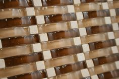 Buy 12x12 Vintrav Burnt Orange 3D Waves Glass Mosaic Tiles, Bathroom Walls, Kitchen Backsplash, Shower Walls, Living Room Floor from mosaict...