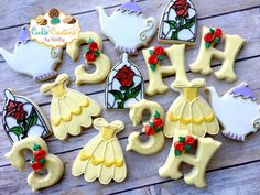 Beauty and the Beast Inspired Cookies