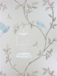 The wallpaper Birdcage Walk - from Nina Campbell is wallpaper with the dimensions m x 10 m. The wallpaper Birdcage Walk - belongs to t Painting Wallpaper, Wallpaper Samples, Wallpaper Patterns, Animal Wallpaper, Luxury Wallpaper, Designer Wallpaper, Nina Campbell Wallpaper, Dining Room Wallpaper, Backgrounds